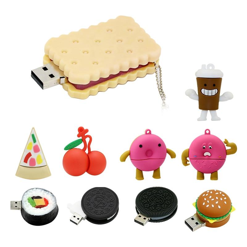 Hamburguesa personalizado Pendrive 256 64 8 comida gb dispositivo USB Flash Drive...