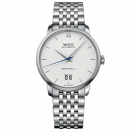 Mido barcelli masculino 40mm pulseira de aço & caso automático mostrador branco relógio analógico m027.426.11.018.00