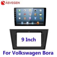 asvegen car radio frame plate cover trim install dash bezel trim car radio panel mounting frame for 2012 2015 volkswagen bora