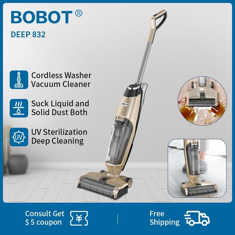 BOBOT DEEP 832 Handheld Washer Vacuum Cleaner Cordless Dry Wet Floor Washer vacuum cleaner Multi-Surface Cleaning UV sterilizati