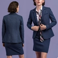 england style women suits custom made office lady slim fit blazer business smart casual daily coat 2 pieces skirt jacket