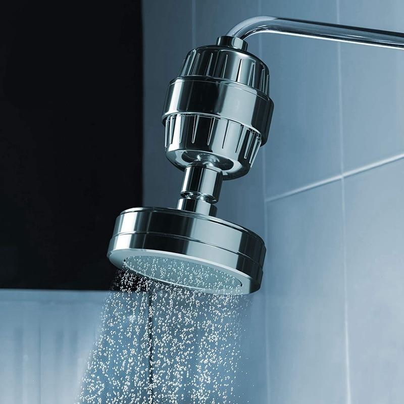 15 Stage Shower Filter Water Purifier Cartridge -Showerhead Water Softener - Remove Chlorine, Fluoride, Hard Water, Rust