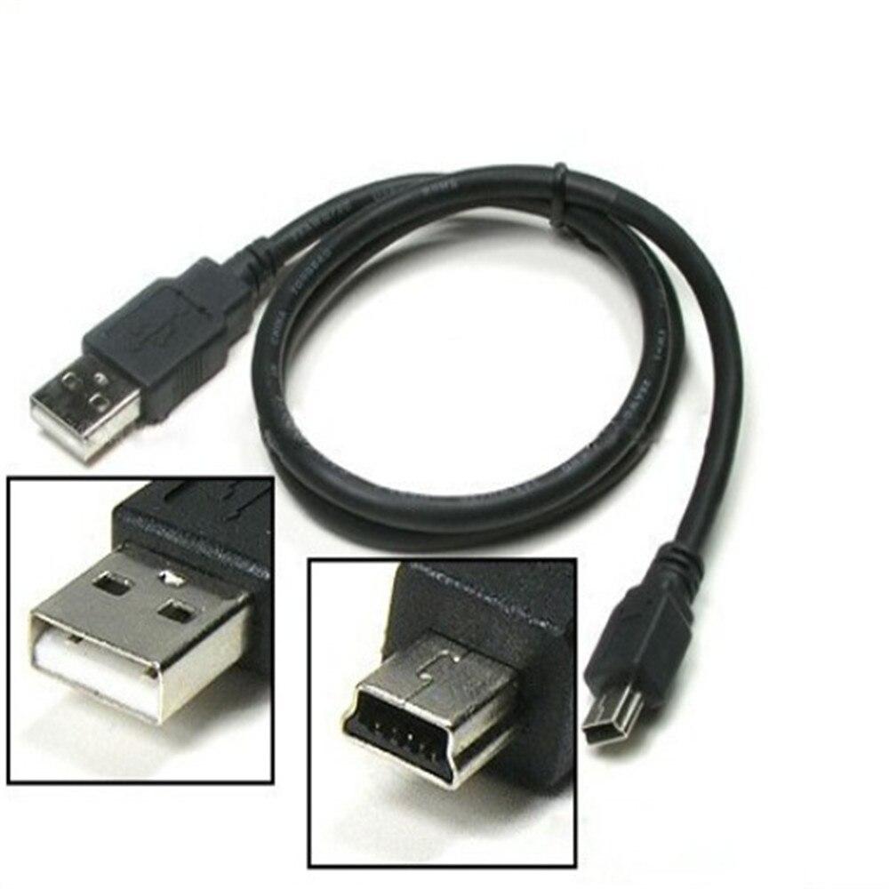50/80/100cm Flache Mini USB A Stecker Auf Mini 5 Pins B Ladegerät V3 USB Kabel für MP3 MP4 MP5 Player Kamera Radio