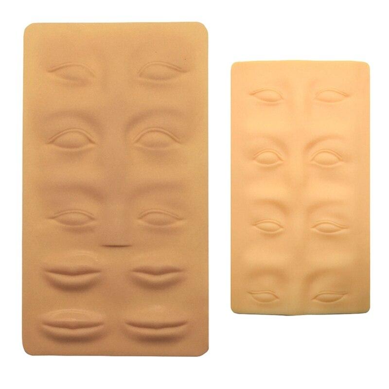 2 шт 3D Силиконовый Перманентный макияж для глаз, губ, поддельная кожа, тату, тренировка, ложная кожа, 18.9X14.4Cm & 26X15.2Cm