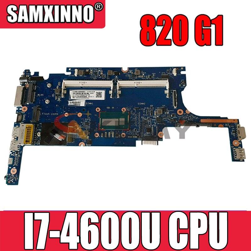 802499-601 802499-001 ل إتش بي Elitebook 820 G1 I7-4600U اللوحة المحمول 6050A2630701-MB-A01 SR1EA DDR3 مفكرة اللوحة