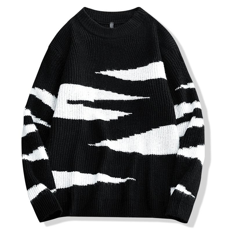 Мужские свитера, пуловеры, Мужская одежда, мужской свитер с узором для мужчин, черный свитер, мужской комфорт, Повседневная мода, новинка 2021