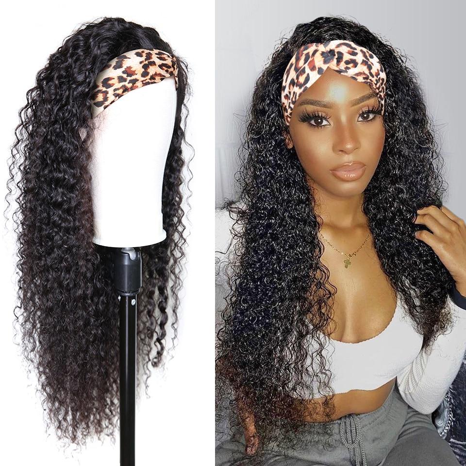 Headband Wig Human Hair Deep Wave Human Hair Wigs Jerry Curly Wig for Women Full Machine Made Wigs 1
