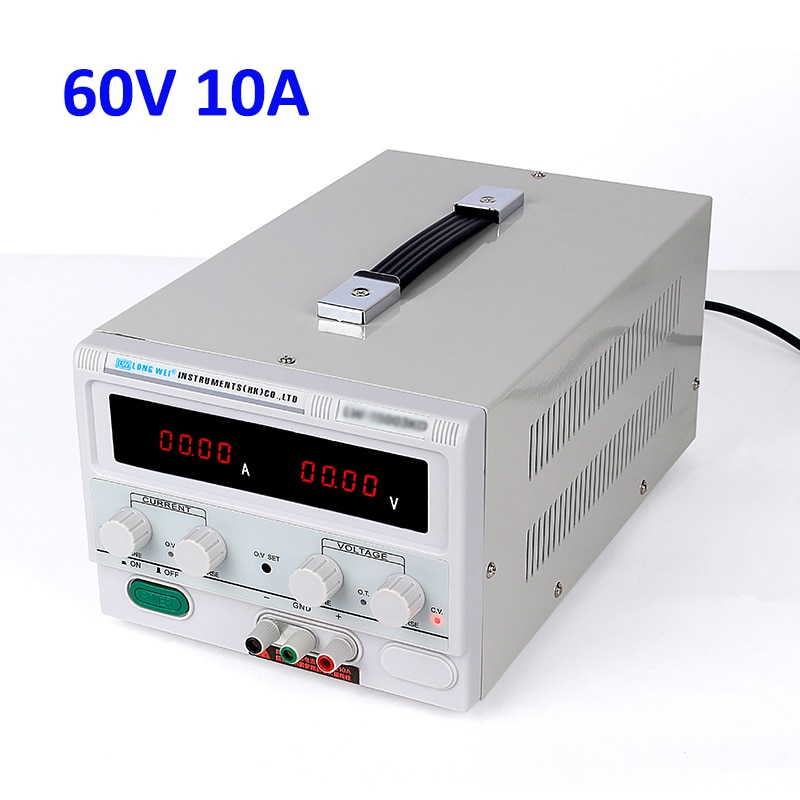 Fuente de alimentación de Banco ajustable de 60V 10A 0.01A 0,01 V soporte de precisión de laboratorio profesional fuente de alimentación de CA 110 V-230 V