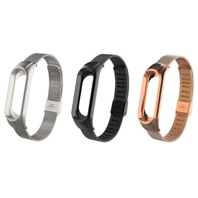 Stainless Steel Smart Wristband Mi Band 2 3 4 metal Strap for Mi band 2 3 Adjustable Screwless bracelet for Xiaomi Mi Band 4 3 2