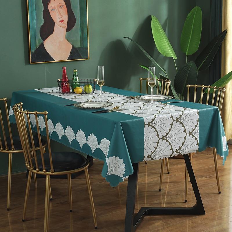 مفرش طاولة PVC مقاوم للماء والزيت ، مفرش طاولة نورديك ، قابل للتخصيص ، مقاوم للحرارة