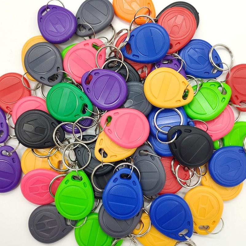 50pcs EM4305 T5577 125KHz Copy Writable Rewritable Rewrite  RFID Tag Keyfobs Key Ring Proximity Card Token Badge Duplicate