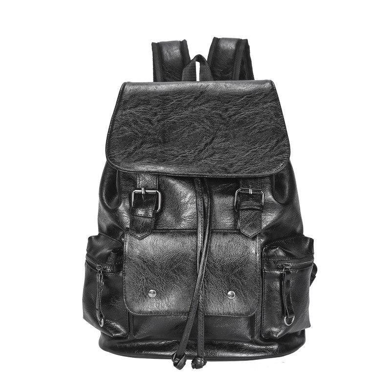 Mochila Xin ning para hombre estilo coreano Pu tendencia de negocios Flip Pull-belt mochila de moda mochila de viaje para hombre bolsa