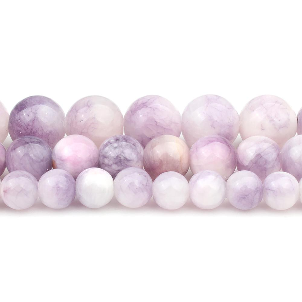 6/8/10mm Natural Purple Persian Jades Stone Beads Round Loose Beads for DIY Bracelet Accessories Jew