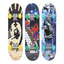Populaire 3 Style érable bois poulie roue haute vitesse complète planche à roulettes planche à roulettes adolescents Hoverboard pont planche à roulettes