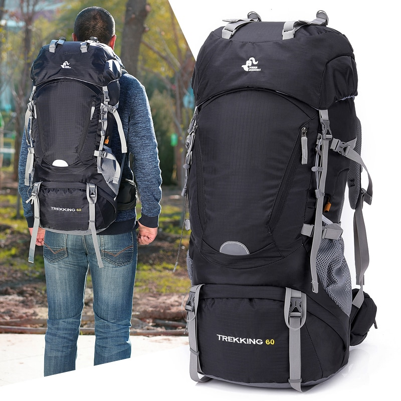 60L Hiking Backpack Outdoor Camping Waterproof Large Capacity Men and Women Mountaineering