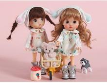 OB11 sukienka dla lalek suspends sukienka dla 1/12 rozmiar GSC solidna konstrukcja Molly round to rozmiar sukienka zestaw chluba + wnętrze + spódnica) lalka acc