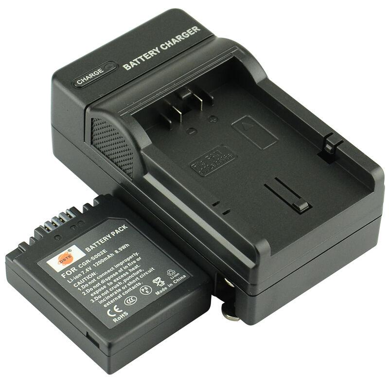 3 uds 1200mAh 7,4 V CGR-S002E DMW-BM7 S002 DSTE batería cargador Dual para Panasonic LUMIX DMC-FZ5 DMC-FZ10 DMC-FZ20 DMC-FZ2 DMC-FZ4