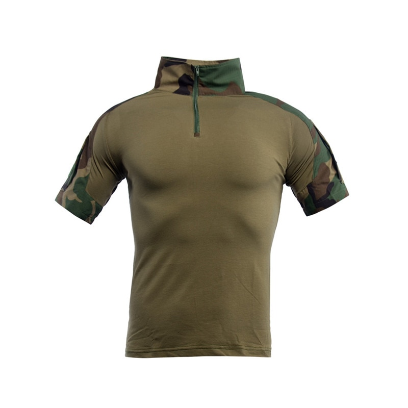 Men Assault Camo Tactical T Shirt Male Short Sleeve Army Frog Combat Clothes Summer Military Multicam Airsoft Hunting Tees Shirt