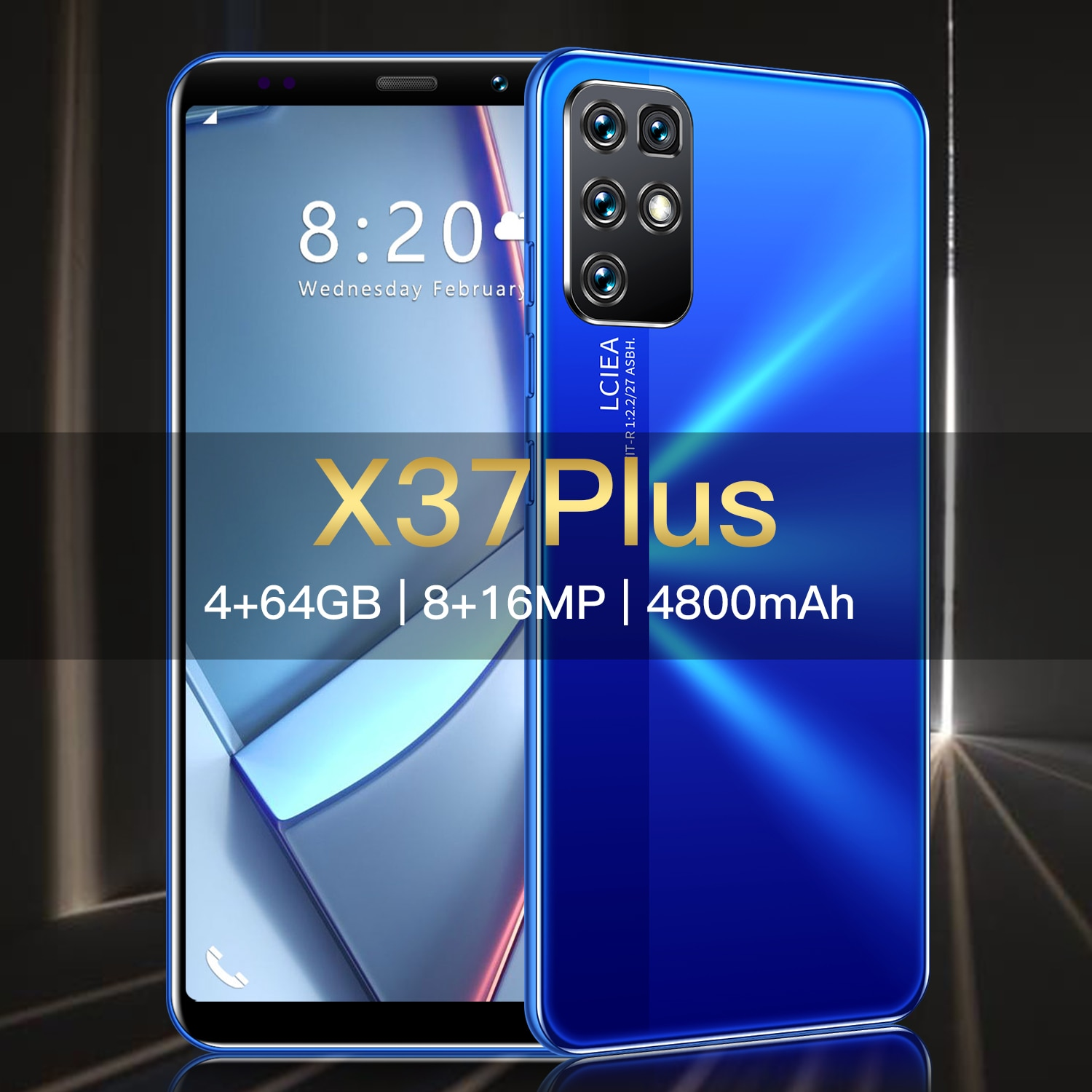 Global Version X37Plus 5.8Inch Full Screen Smartphone 4+64GB 8+16MP Face Unlock 4800mAh Long Standby 10core Android Mobile Phone enlarge