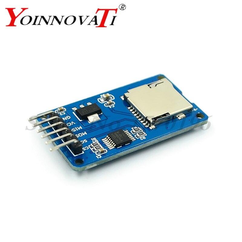 100 piezas tarjeta Micro SD mini TF módulo Lector de Tarjeta interfaz SPI con chip convertidor de nivel para arduino