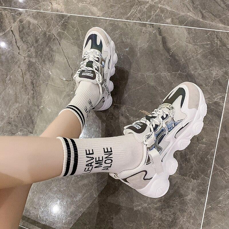 Женские новые кроссовки, комфортная летняя дышащая обувь без шнуровки для прогулок, Спортивная повседневная Вулканизированная обувь
