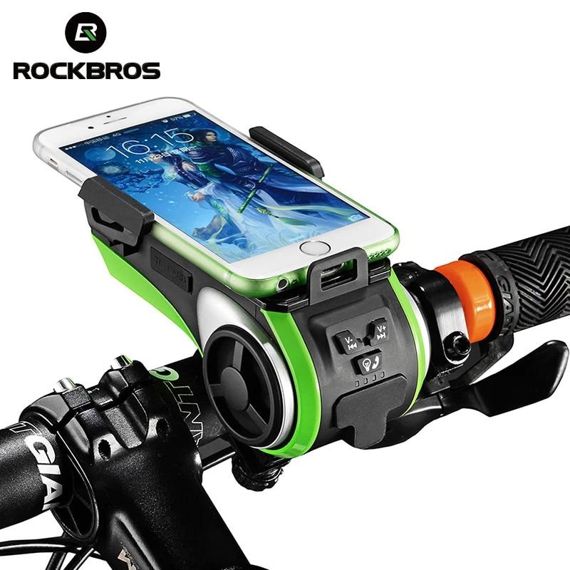 ROCKBROS مقاوم للماء دراجة 5 في 1 متعدد الوظائف سمّاعات بلوتوث بطارية المحمول 4400 mAh قوة البنك حامل هاتف الدراجات الخفيفة