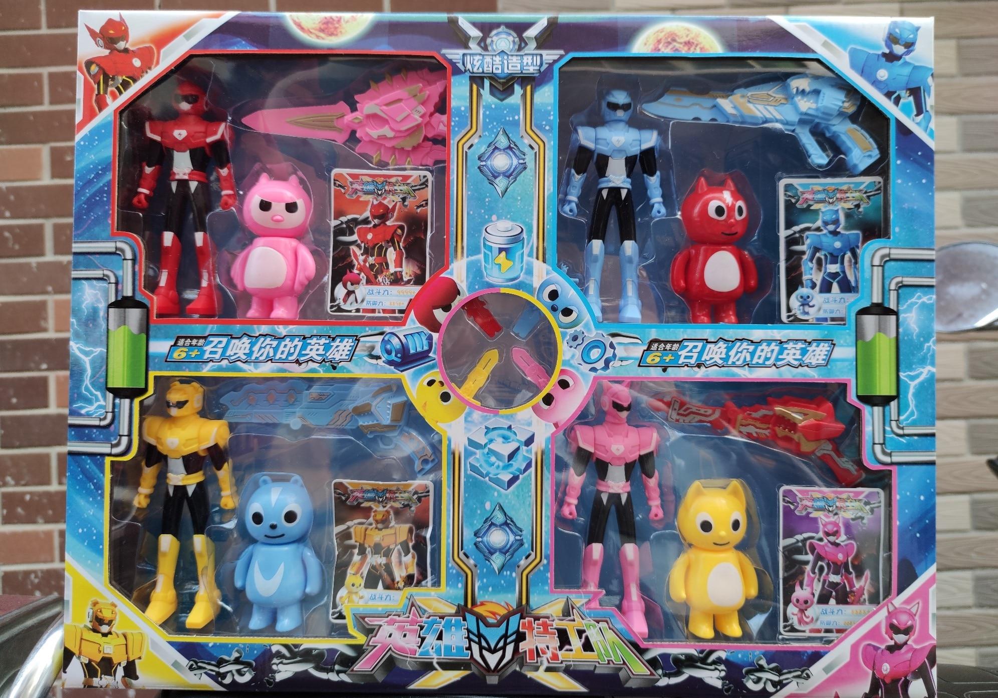 Игрушки-трансформеры MiniForce, 10 мини-игрушек-агентов, X Volt Semey ВВС, секретный коммандос для мальчиков, детские подарки 4