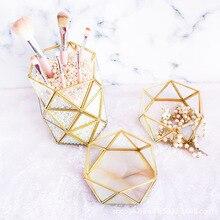 Boîte de rangement de bijoux en verre   Boîte de rangement de bijoux en verre, conservation de fleur fraîche, géométrie de verre, Floorra boîte de rangement de bijoux en laiton
