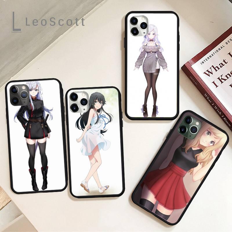 Funda de teléfono de dibujos animados para chica, carcasa de silicona suave para iPhone 11, 12 pro, XS MAX, 8, 7, 6, 6S Plus, X, 5S, SE 2020, XR