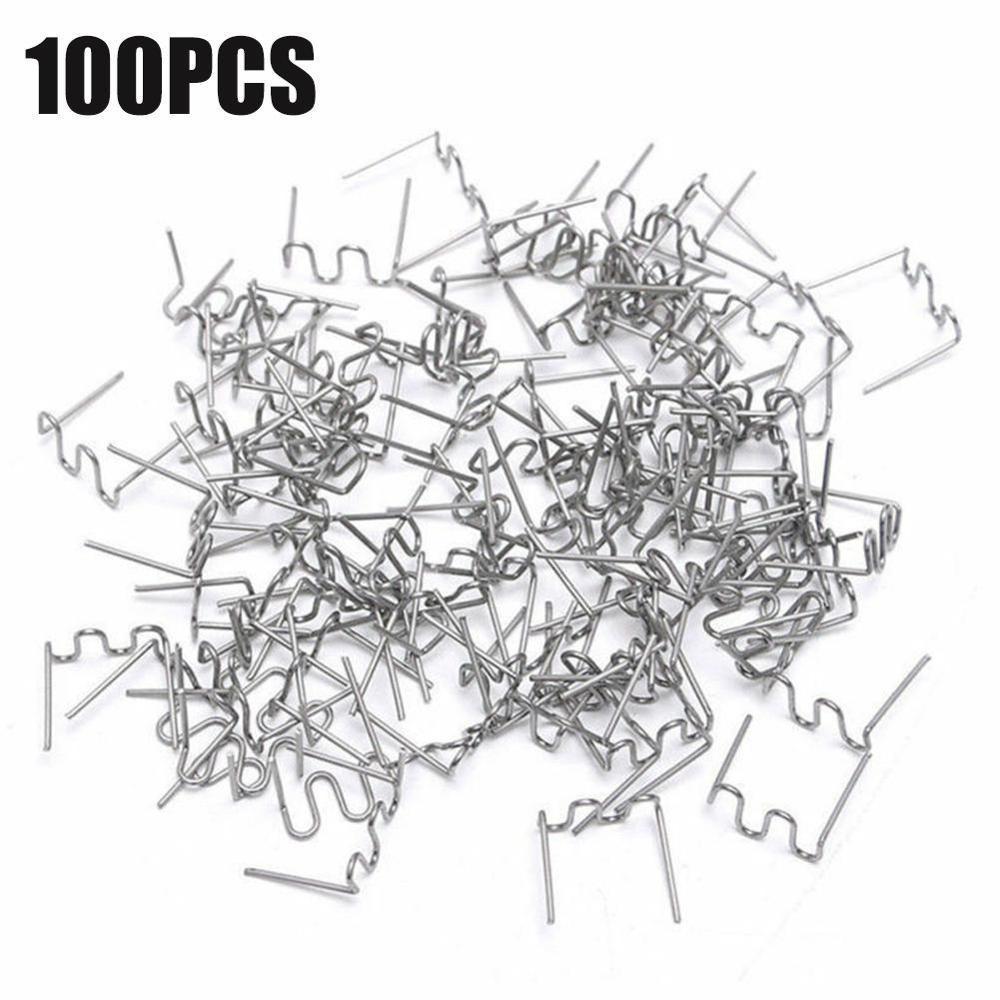 100 / 600pcs punti metallici caldi per saldatrice plastica saldatrice riparazione paraurti auto hot melt