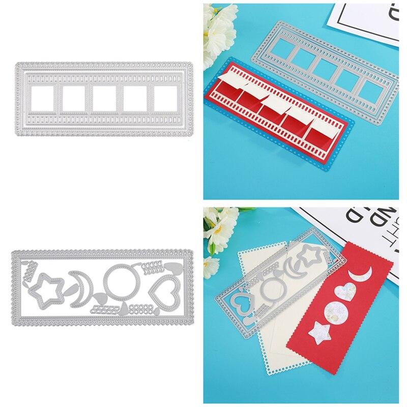 Закладка для книги пресс-формы «Луна», «Звезды» Прямоугольная оправа для 2020 новый металлический Трафаретный вырубной Штамп для DIY бумажные ...