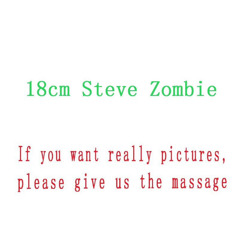 18-сантиметровые плюшевые игрушки MC Steve Zombie, 10 шт./набор