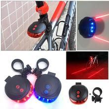 2 Laser 5 LED Bicycle Cycle Bike Red Beam Rear Lights Back Tail Lamp Light ZX003 Outdoor Cycling Warning Tail Light Bicycle Rear