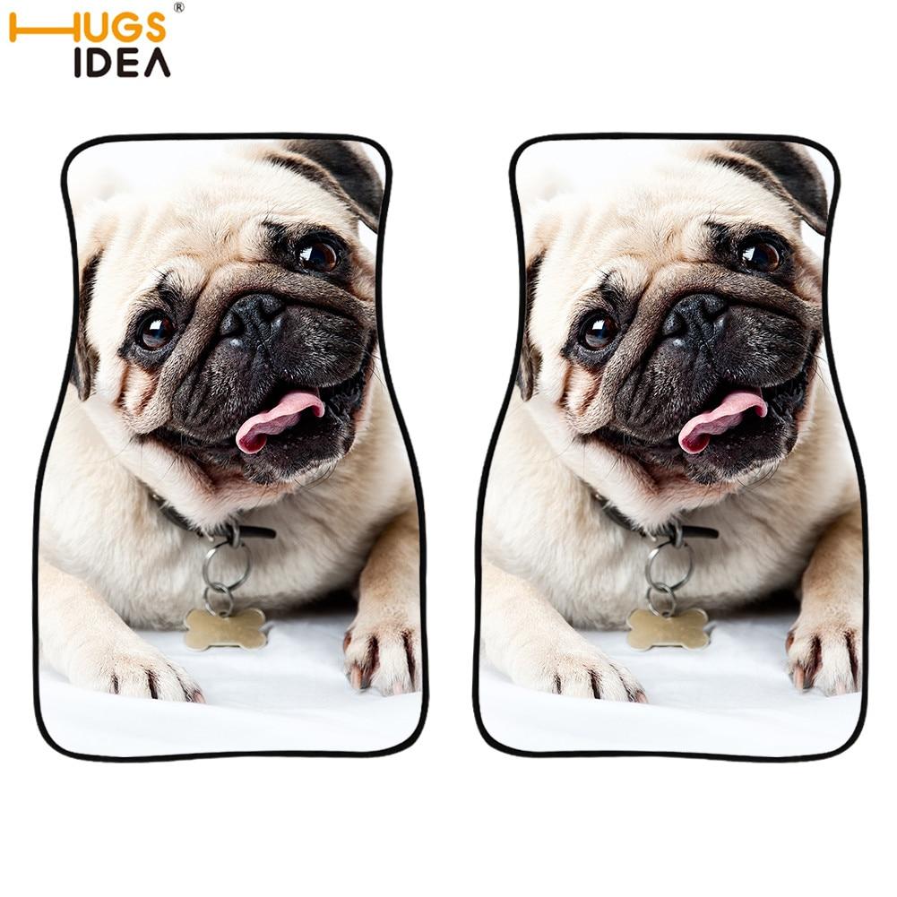 2 قطعة لطيف ثلاثية الأبعاد الصلصال الكلب نمط سيارة الطابق السجاد جميل الكلب/بوسطن الترير السيارات السجاد نموذج ديكور السجاد الذئب