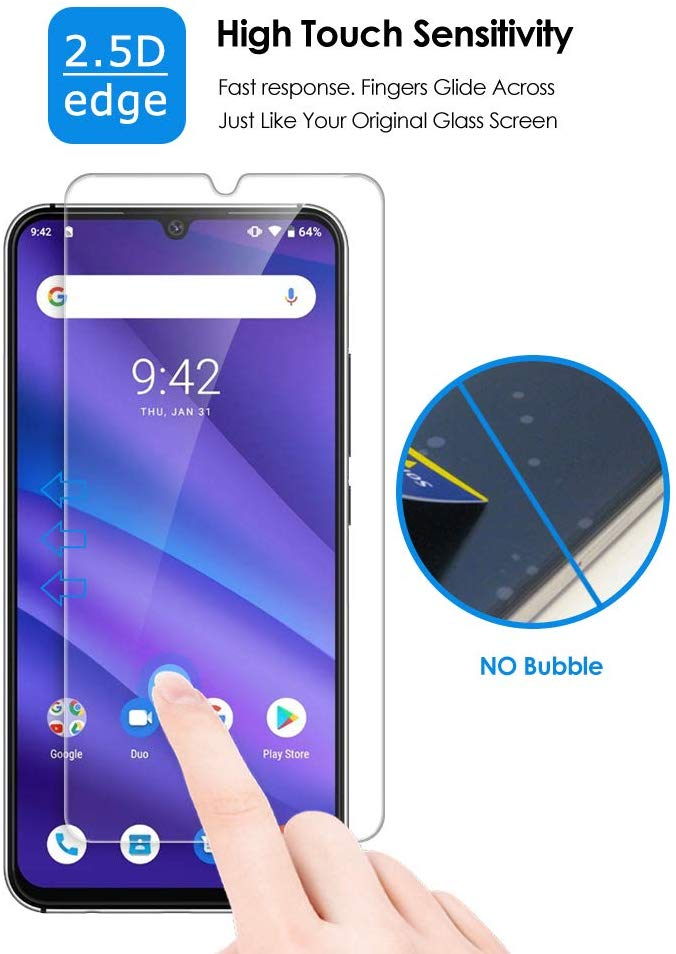 New 0.26mm Tempered Glass Film For UMiDIGI A1 Pro A3 Pro A5 Pro Power Glass Screen Protector Protective Saver Guard 9H Hardness