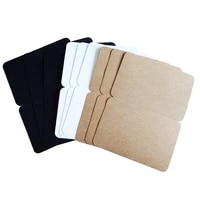 10pcslot students diy bussiness card blank folding postcard three selection new fashion