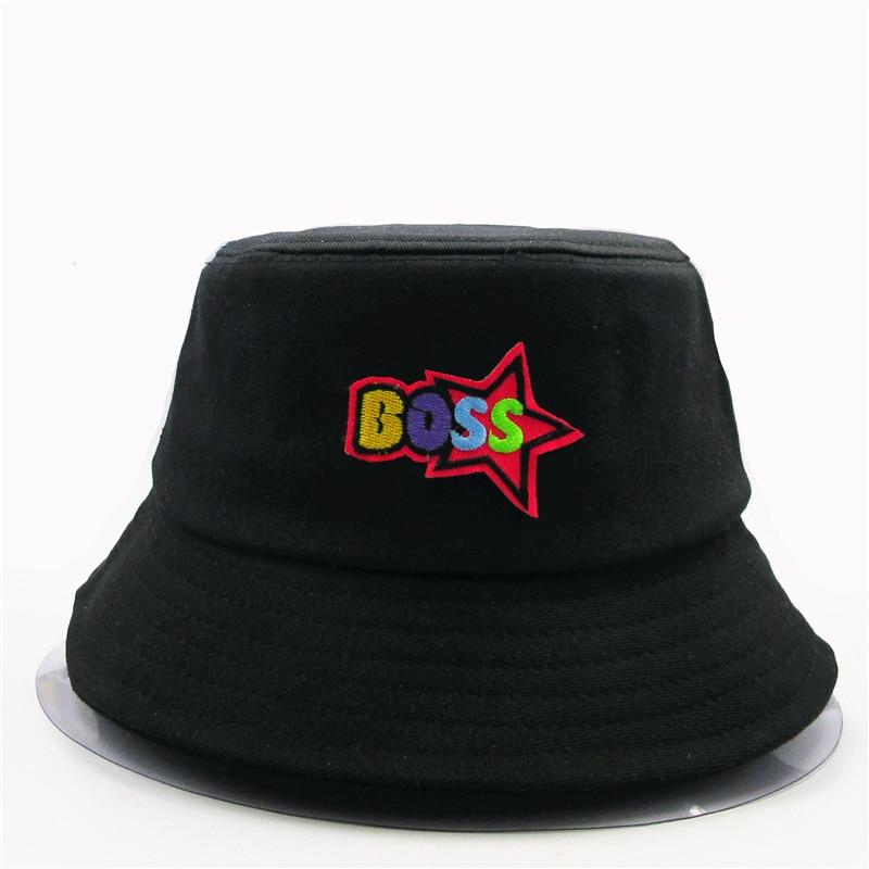 Sombrero de pescador de algodón bordado con dibujo de héroe, sombrero de pescador para viajes al aire libre, sombrero para el sol gorra, sombreros para niños, hombres y mujeres 232