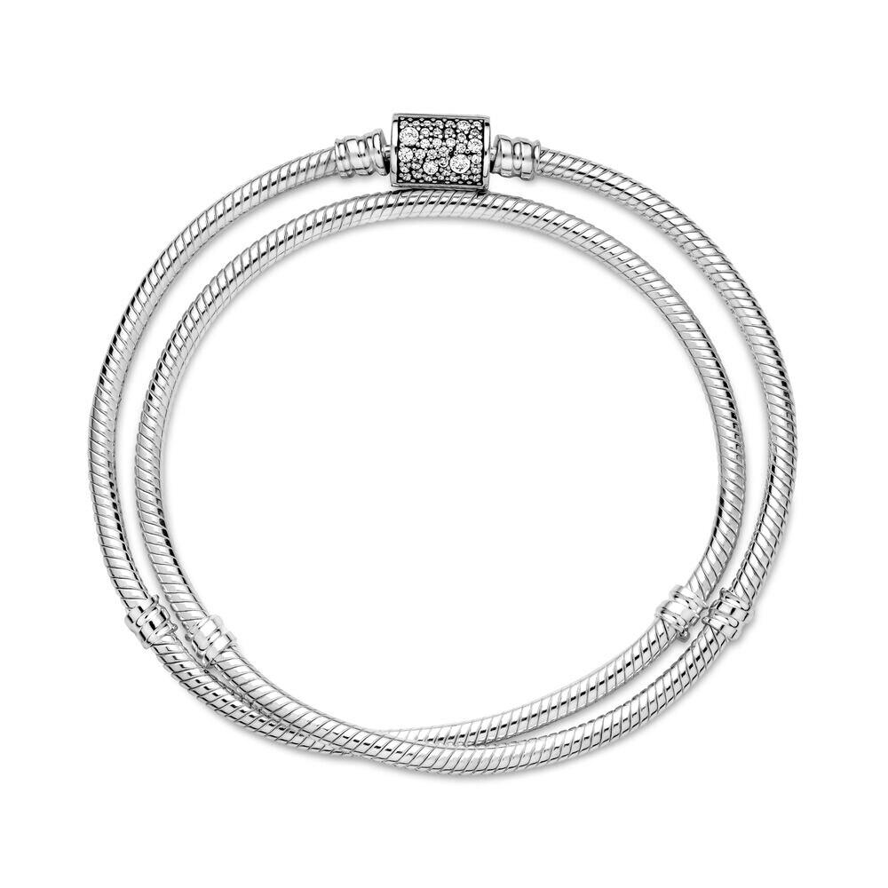 New Hot Sale Jewelry For Women Fit Original Pandora Pulseras Plata Bangle DIY Charms 100% 925 Sterling Silver Beads Bracelets