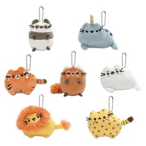 Cute Cartoon Animal Cat Plush Toy Keychain Backpack Key Button Fat Cat Orange Cat Persian Cat Stuffing Plush Soft Mini Plush Toy