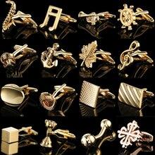 คุณภาพทอง Cufflinks สีจีน Maple ใบมงกุฎหางเสือเพลงเสื้อฝรั่งเศส Cuffs ชุดอุปกรณ์เสริมเครื่องประดับงานแ...