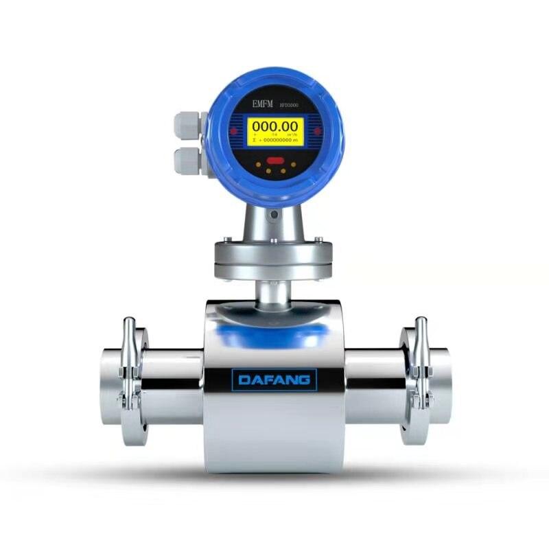 الغذاء الصف المياه الحليب مقياس الجريان 1.5 بوصة ثلاثي المشبك جهاز قياس سرعة التدفق الكهرومغناطيسي