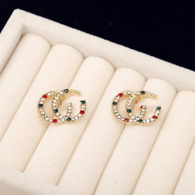 S925 Silver Needle 2021 New Fashion Jewelry Shiny Colored Diamond Earrings Korea Fashion Earrings for Women Wholesales