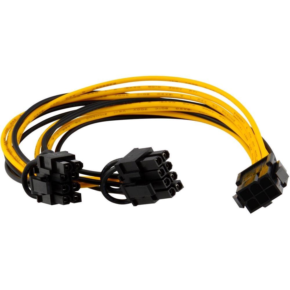 Cable bifurcador de corriente PCI-E de 6 pines a 2x6 + 2...