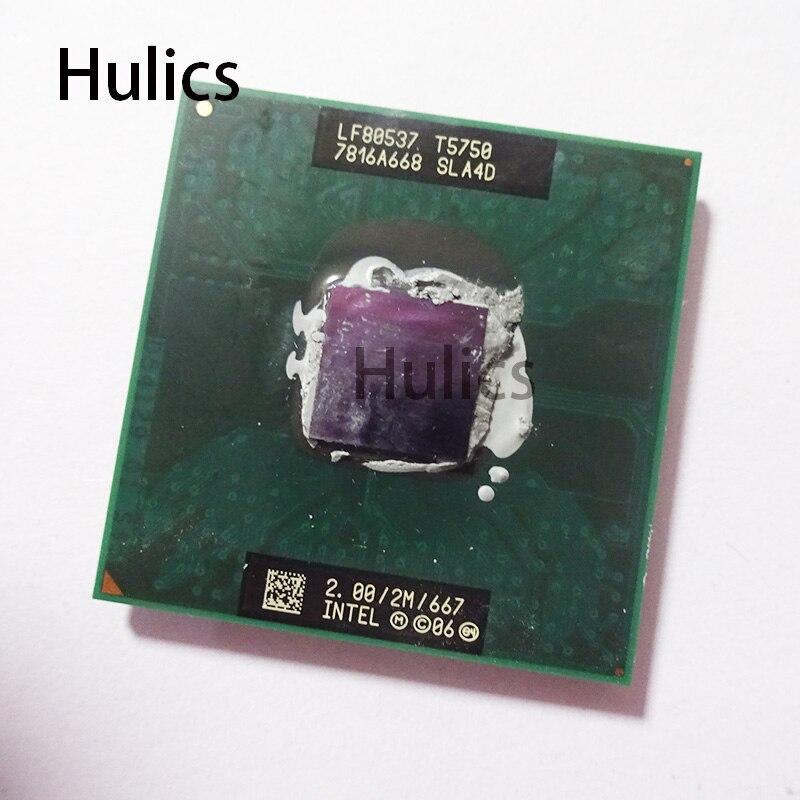 Hulics Originale intel CPU del computer portatile Core 2 Duo T5750 CPU di trasporto morbida pak