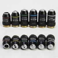 40X 60X Biological Microscopes Achromatic Objective Lens 100X (oil) 4X 10X 20X 195mm Conjugate Distance Universal MS thread