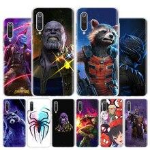 Marvel Thanos vengadores final funda de teléfono para Xiaomi Redmi Note 8T 9S 10 8A 7 7A 6 6A MI 10 9 8 CC9 Pro Lite cubierta de lujo Coque
