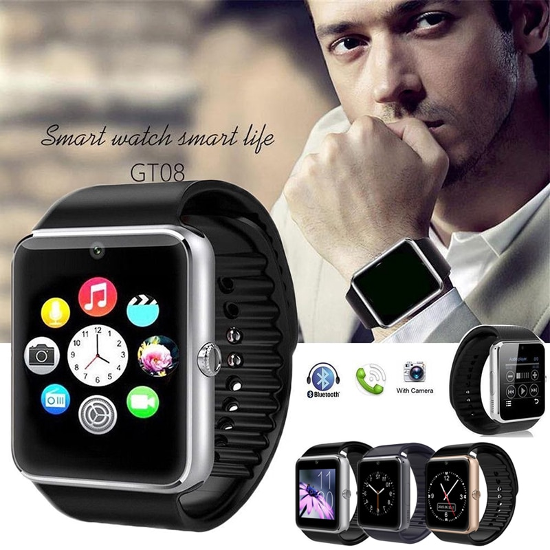 Smart Bluetooth Watch SIMs ranura para tarjeta deportes podómetro teléfono inteligente reloj adecuado para teléfono habitual NYZ Shop