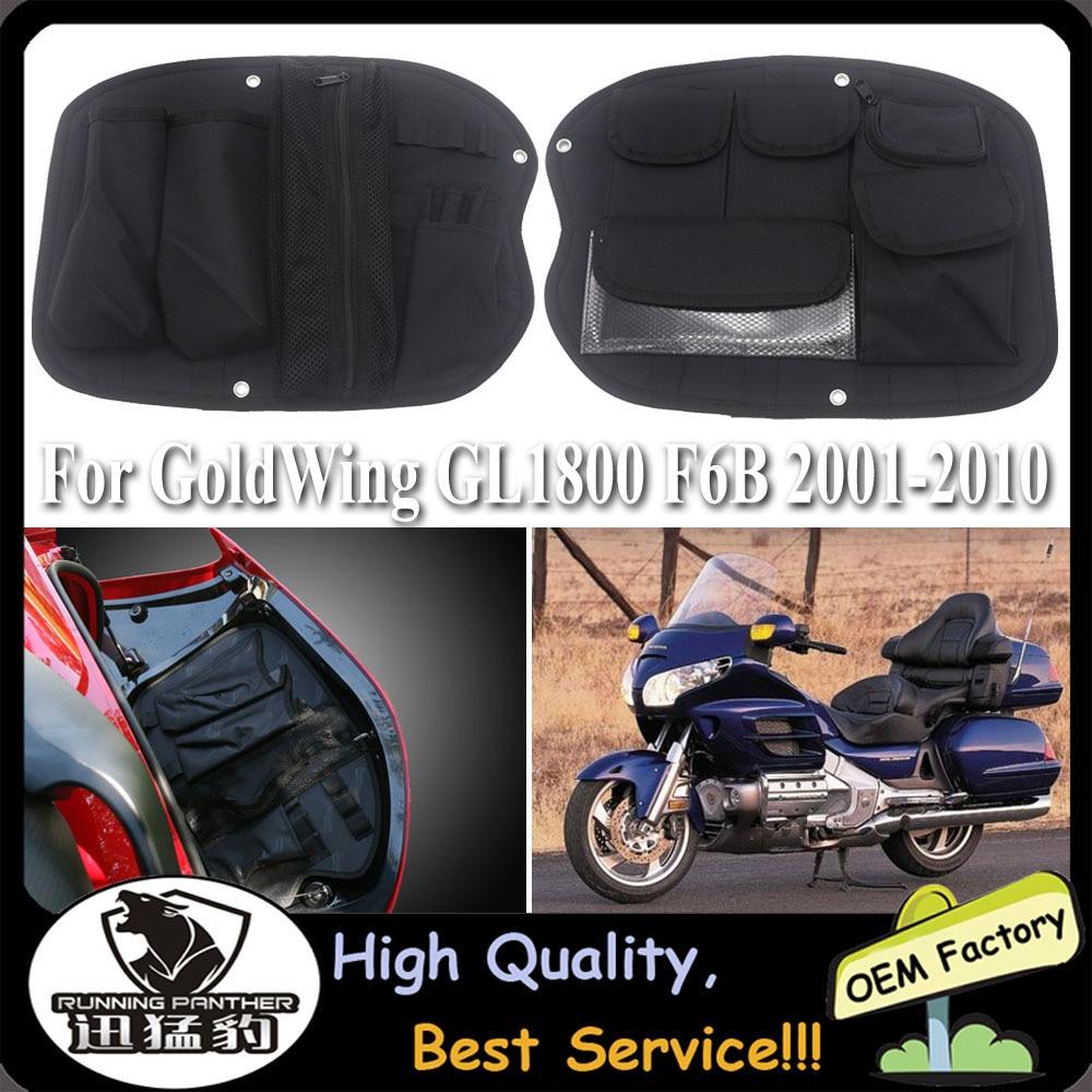 حقيبة تخزين غطاء صندوق الدراجة النارية ، جراب أدوات لهوندا ، Golden Wing GL1800 GL 1800 F6B 2001-2010