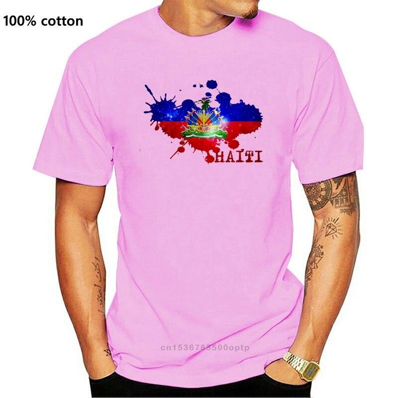 República do haiti bandeira branca t camisa superior mangas curtas dos homens das mulheres crianças bebê todos os tamanhos! 100% algodão o-pescoço tshirts