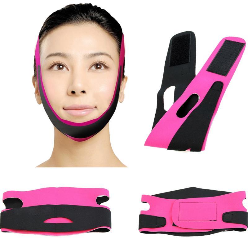 Face Slim V-Line Lift Up Belt Women Slimming Chin Cheek Slim Lift Up Mask V Face Line Belt Anti Wrin